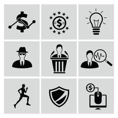 Business marketing icon set,clean vector