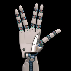 Life Long And Prosper Robot. With Clipping Path.