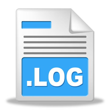 Log File Represents Organized Logbook And Organize