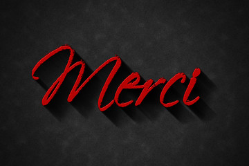 merci, Thank You Hand lettering Greeting Card