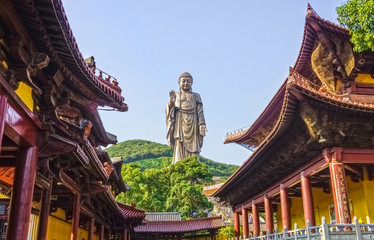 The Grand Buddha statue at Ling Shan