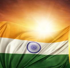 India flag and sky