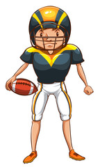 A simple sketch of an American football player