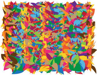 vector wrapping paper design with bright shapes