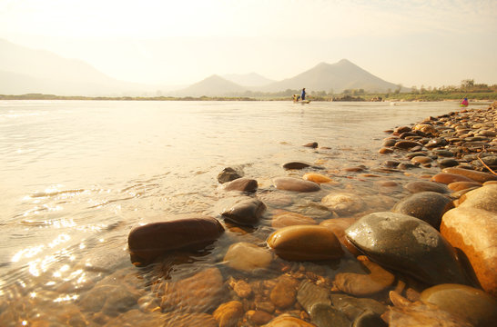 Kaeng Kud Ku. Khong river. Chiang Khan, Loei, Thailand