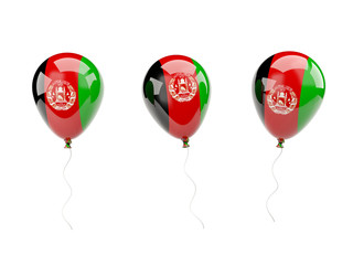 Air balloons with flag of afghanistan