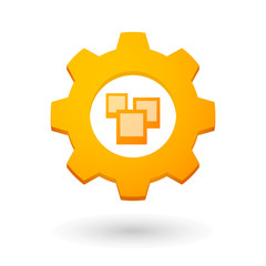 Gear icon with a bunch of photos