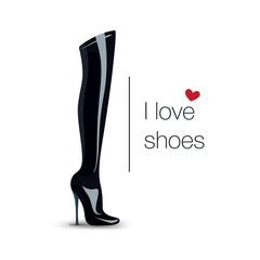 Foot logo, boot logotype