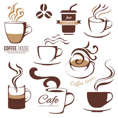 coffee and cafe lofo templates
