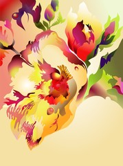 Fantastic abstract exotic flowers.