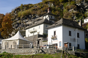 The rural village of Comologno on Onsernone valley