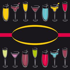 Premiun cocktail design menu background