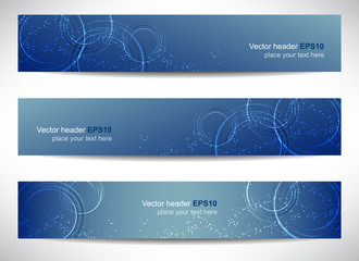 Web header, set of vector banner, design with precise dimension