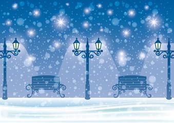 Winter night.
