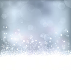 Blue Christmas, winter background