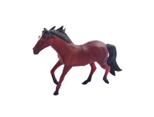 Horse toy on white background
