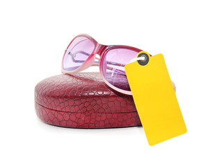 sunglasses with a label