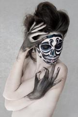 Sugar skull girl, Day of the Dead, Halloween