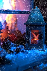 Weihnachtszeit fensterdekoration
