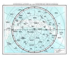 Constellations of the northern Hemisphere circa 1895