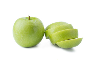 Wall Mural - Green Apple and a Sliced
