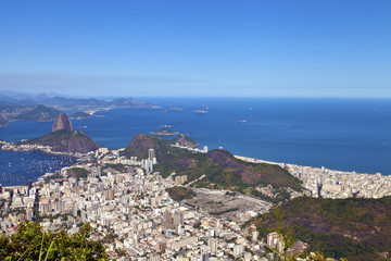 Rio de Janeiro cityscape panorama with Sugar Loaf