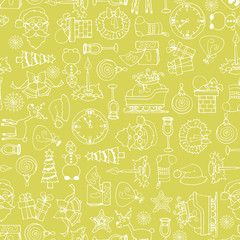 Vector pattern with symbols of happy new year