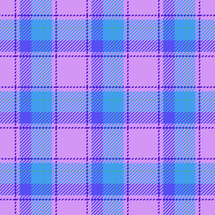 Plaid retro pink blue seamless pattern - for hipster shirt