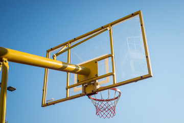 Basket and hoop
