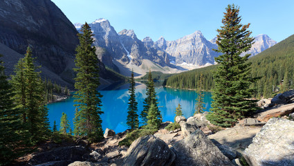 Papiers peints Kaki Moraine Lake