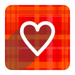 heart red flat icon isolated