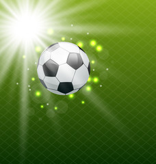 Football shine background with ball