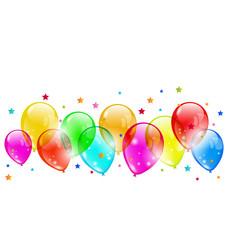 Set colourful shiny balloons isolated on white background