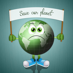 Funny green earth