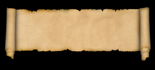 Medieval scroll of parchment.