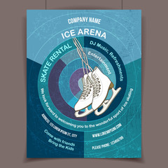 Ice skating rink advertising poster