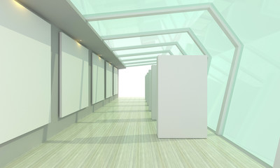 Gallery Glass room white