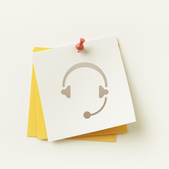 Sticky Note Concept Icon