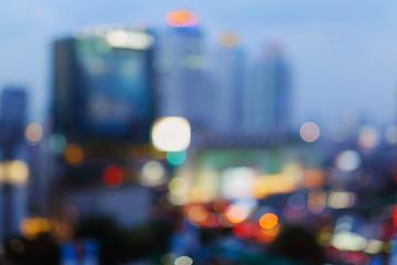 Bangkok cityscape at twilight time