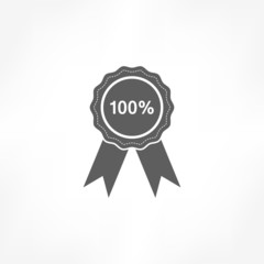 100 percent badge icon