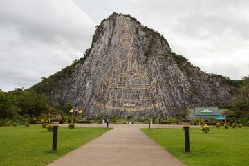 Buddha images the carved on the mountain at Khao Chee Jan, Patta
