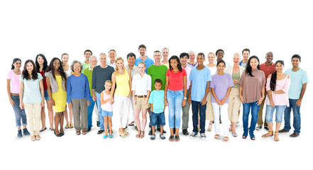 Multi-ethnic Group of People Standing Together