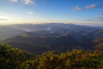 Phu chi phur viewpoint ,Mae Hong Son Northern, Thailand.