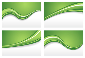 Green Wave Backgrounds