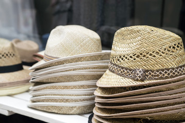 Hats in shop