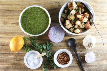 Chimichurri sauce ingredients