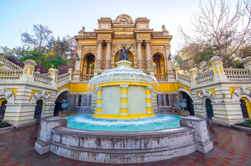 Fountain in Santiago, Chile