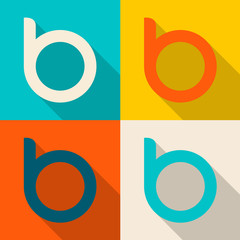 Flat Design B icons Vector Illustration Template