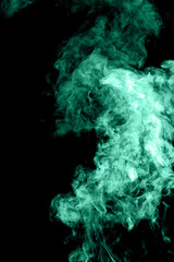 Smoke in green