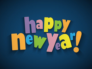 HAPPY NEW YEAR Card (merry 2015 2016 2017 Christmas)